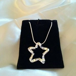 Jewelry - 🦄New 925 Silver 18 inch star necklace🦄